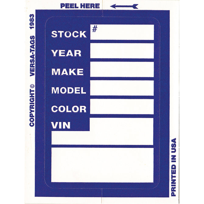 Kleer-Bak Stock Sticker - #400 - 100 per pack - Independent Dealer Services