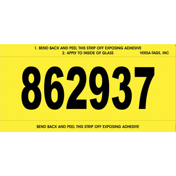 Stock Number Mini Signs - YELLOW # 650 - CUSTOM -  Qty. 250