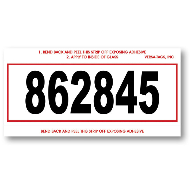 Stock Number Mini Signs - RED BORDER - # 610 - CUSTOM - Qty. 250