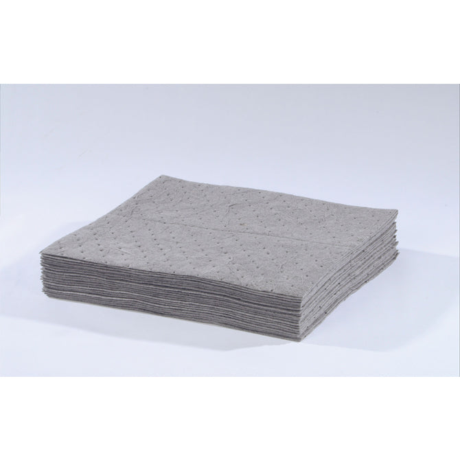 "Univ Gray Meltblown Sonic Bonded Pads - 15"" x 18"" - Qty. 100/Case - Independent Dealer Services"