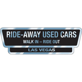 Chrome Polyester  Auto Stickers - Custom Style I - Qty. 1 - Independent Dealer Services