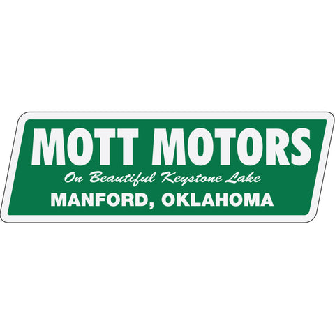 White Reflective  Auto Stickers - Custom - Style B- Qty. 1 - Independent Dealer Services