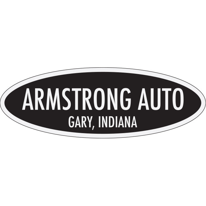 White Reflective  Auto Stickers - Custom - Style F- Qty. 1 - Independent Dealer Services