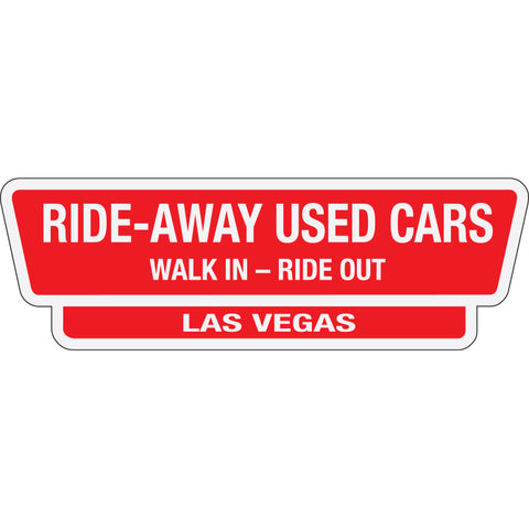 White Reflective  Auto Stickers - Custom - Style I - Qty. 1 - Independent Dealer Services