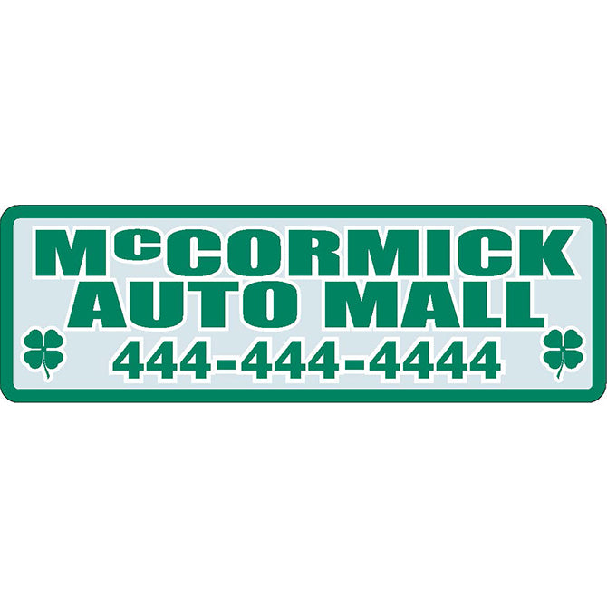 Domed Auto Stickers - Clear- Custom - Style A - Qty. 1. - Independent Dealer Services