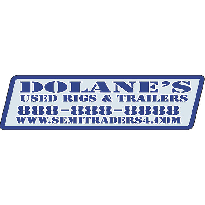 Domed Auto Stickers - Clear- Custom - Style B - Qty. 1. - Independent Dealer Services