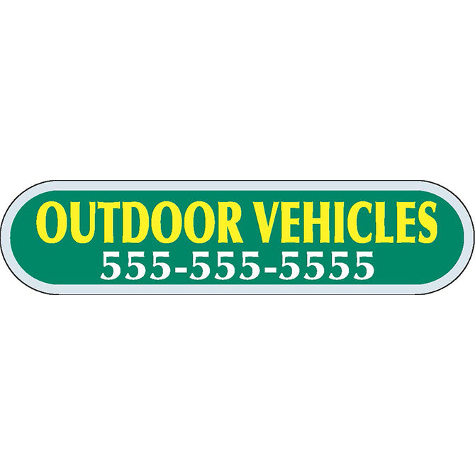 Domed Auto Stickers - Clear- Custom - Style C - Qty. 1. - Independent Dealer Services