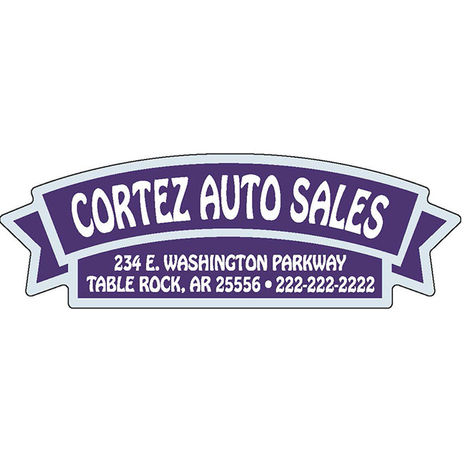 Domed Auto Stickers - Clear- Custom - Style G - Qty. 1. - Independent Dealer Services