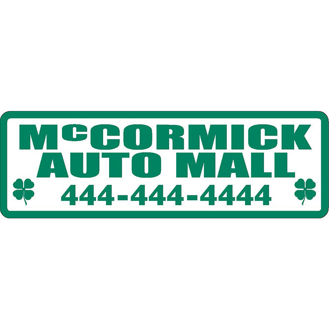 Domed Auto Stickers - White - Custom - Style A - Qty. 1. - Independent Dealer Services