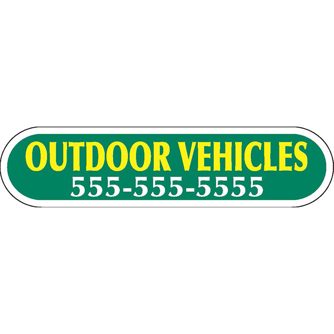 Domed Auto Stickers - White - Custom - Style C - Qty. 1. - Independent Dealer Services
