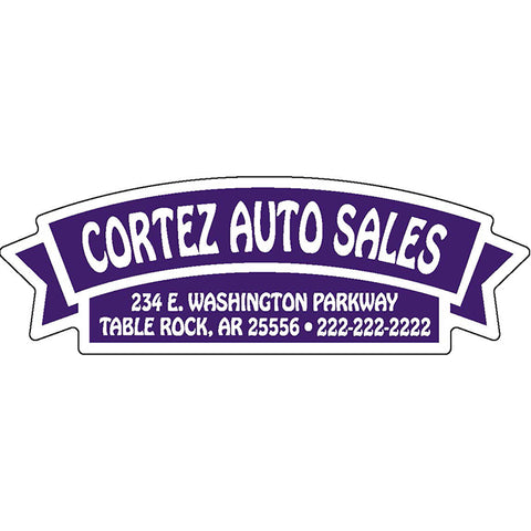 Domed Auto Stickers - White - Custom - Style G - Qty. 1. - Independent Dealer Services