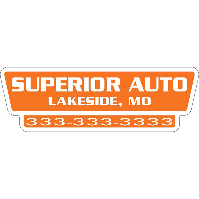 Domed Auto Stickers - White - Custom - Style H - Qty. 1. - Independent Dealer Services