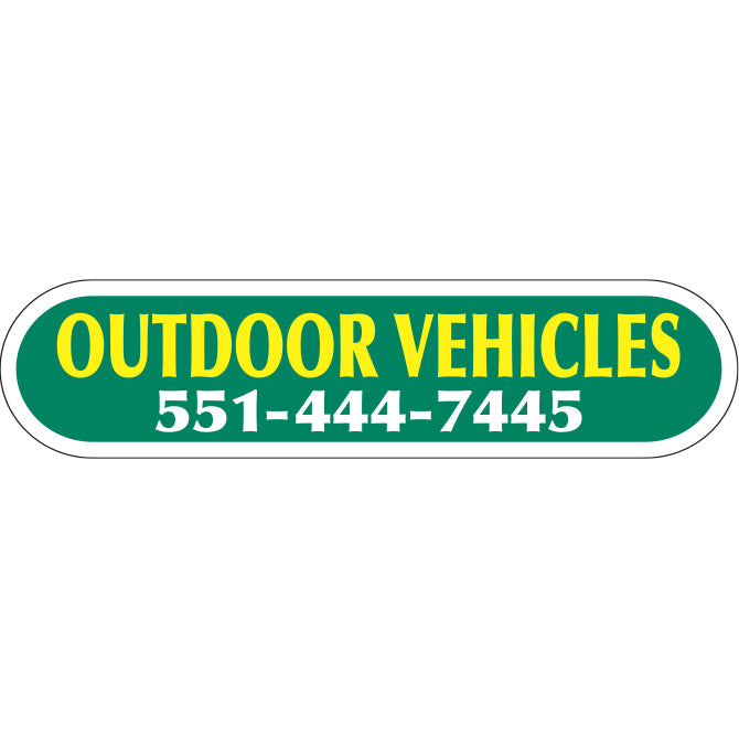 Domed Auto Stickers - Chrome - Custom - Style C - Qty. 1 - Independent Dealer Services