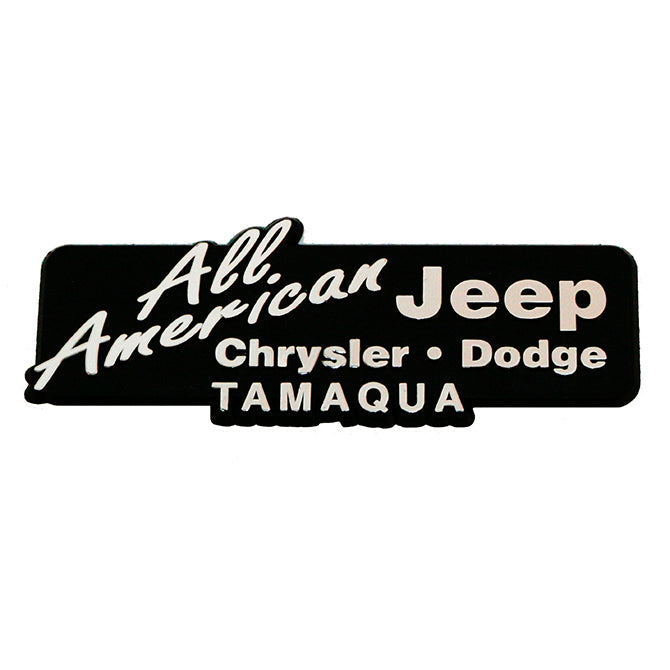 3-Dimensional Plastic Name Plate - Custom - Qty. 1 - Independent Dealer Services