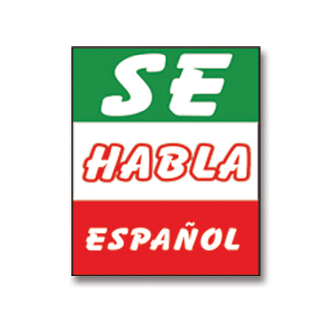 Underhood Sign - SE HABLA ESPANOL - Qty. 1 - Independent Dealer Services