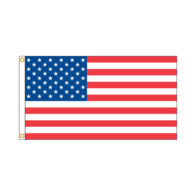 American Flag - Nylon w/Embroidered Stars & Sewn Stripes - Qty. 1 - Independent Dealer Services