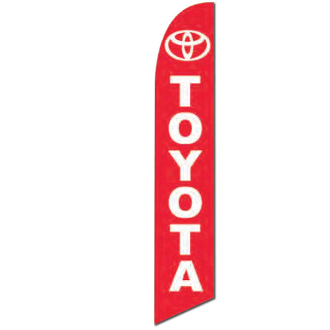 Swooper Banner - TOYOTA (RED W/WHITE LETTERS) - Qty. 1 - Independent Dealer Services