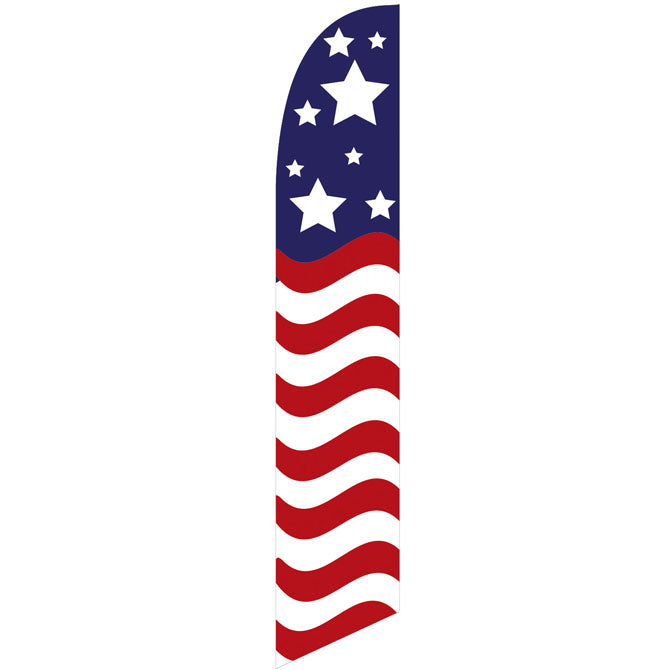 Swooper Banner - AMERICAN FLAG 8 STARS - Qty. 1 - Independent Dealer Services