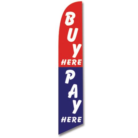 Swooper Banner - BUY HERE/PAY HERE - Qty. 1 - Independent Dealer Services