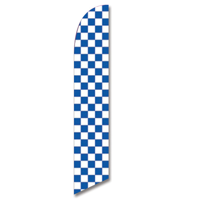 Swooper Banner - CHECKERED FLAG (BLUE & WHITE) - Qty. 1 - Independent Dealer Services