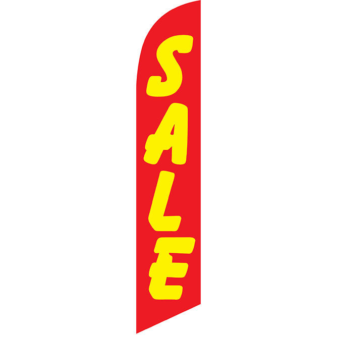 Swooper Banner - SALE (Red/Yellow) - Qty. 1 - Independent Dealer Services
