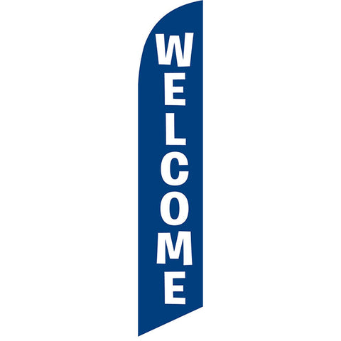 Swooper Banner - Welcome (Blue) - Qty. 1 - Independent Dealer Services