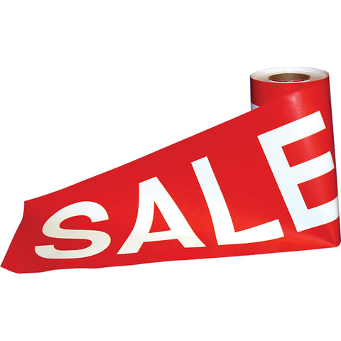 "Super Sized Sale Tape 12"" X 300' -  Qty. 1 - Independent Dealer Services"