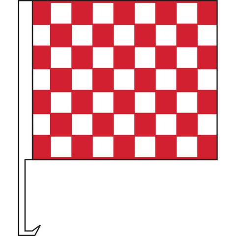 Standard Clip-On Flag - Red/White Checkered - Qty. 1 - Independent Dealer Services
