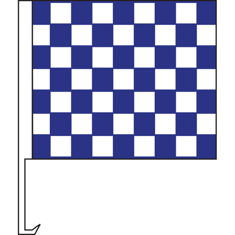 Standard Clip-On Flag - Blue/White Checkered - Qty. 1 - Independent Dealer Services