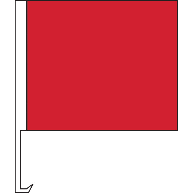 Standard Clip-On Flag - Red - Qty. 1 - Independent Dealer Services