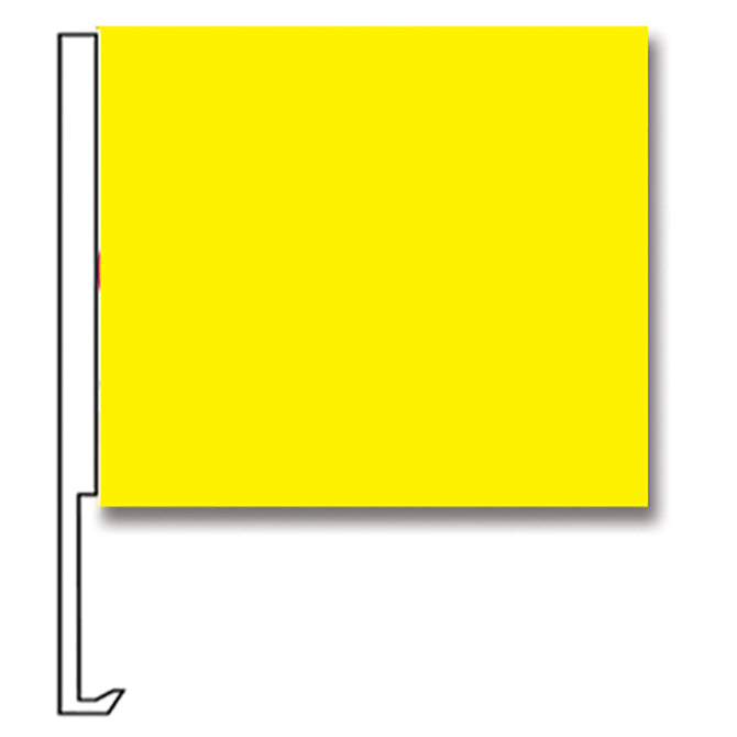 Standard Clip-On Flag-  Yellow - Qty. 1 - Independent Dealer Services