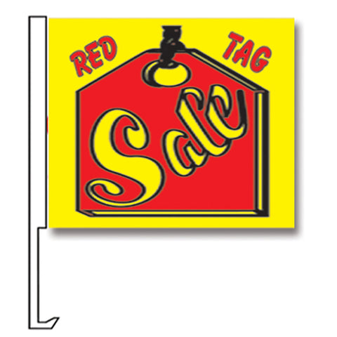 Standard Clip-On Flag - Red Tag Sale  - Qty. 1 - Independent Dealer Services
