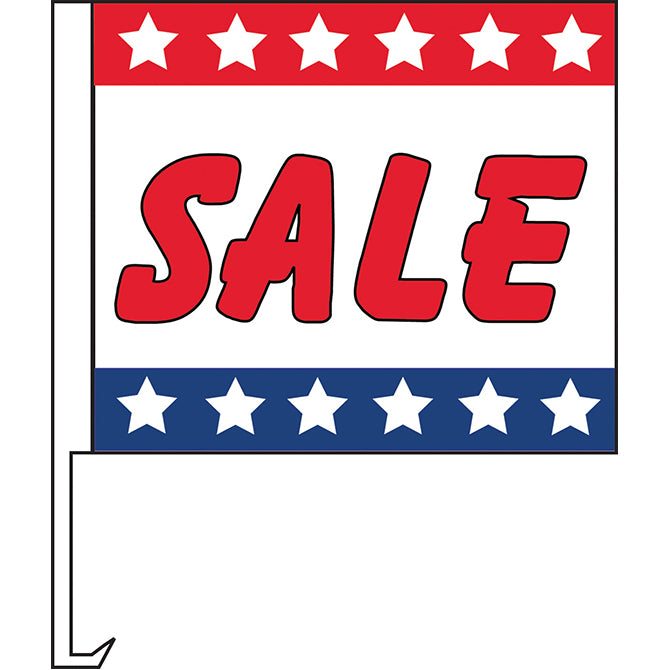 Standard Clip-On Flag - Patriotic Sale  - Qty. 1 - Independent Dealer Services