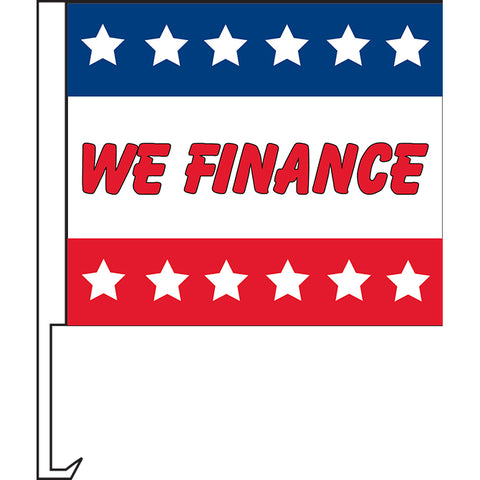 Standard Clip-On Flag - We Finance - Qty. 1 - Independent Dealer Services