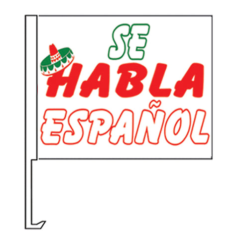 Standard Clip-On Flag - Se Habla Espanol - Qty. 1 - Independent Dealer Services