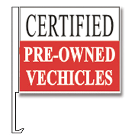 Standard Clip-On Flag - Certified Pre-Owned Red - Qty. 1 - Independent Dealer Services
