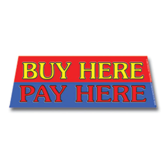 Windshield Banner - Buy Here-Pay Here - Qty. 1 - Independent Dealer Services
