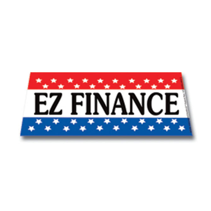 Windshield Banner - EZ Finance - Qty. 1 - Independent Dealer Services