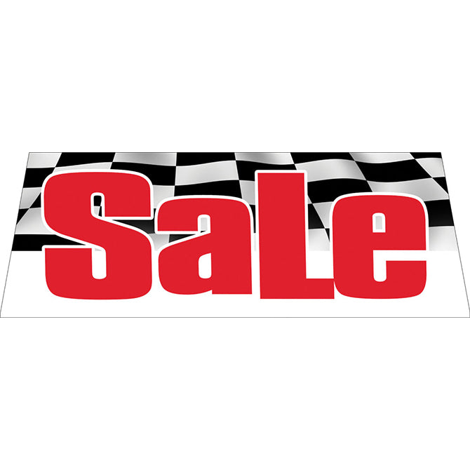 Windshield Banner - Sale w/Checkered Flag Background - Qty. 1 - Independent Dealer Services