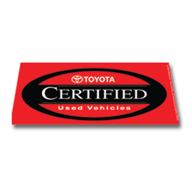 Windshield Banner - Toyota Certified - Qty. 1 - Independent Dealer Services