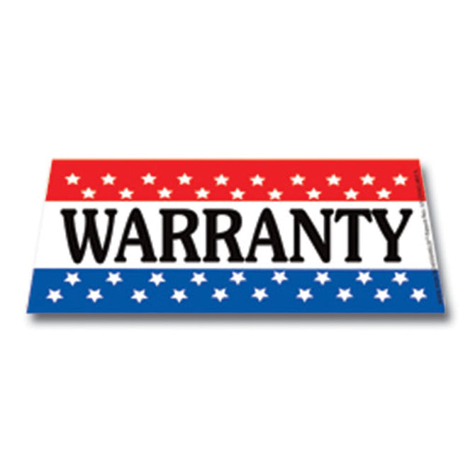 Windshield Banner - Warranty - Qty. 1 - Independent Dealer Services
