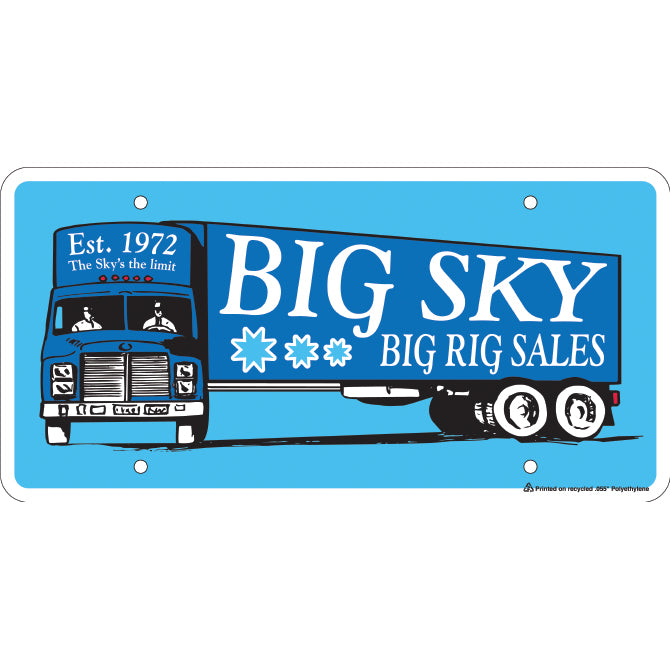 Custom Polyethylene Car Plate - Qty. 1 - Independent Dealer Services