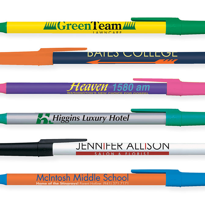 Custom Pens - Round Stic Bic Pens - Qty. 1 - Independent Dealer Services