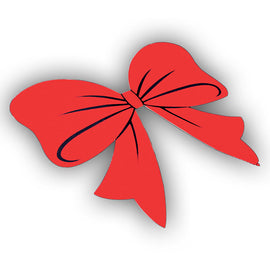 Window Sticker - HOLIDAY BOW - Qty. 12 - Independent Dealer Services