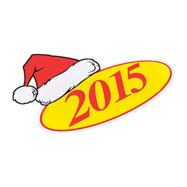Window Sticker - SANTA HAT - Qty. 12 - Independent Dealer Services