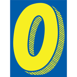 "Window Sticker - 7 1/2"" Blue/Yellow - 0 - Qty. 12"