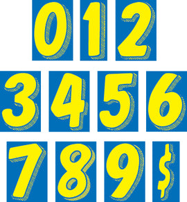 "Window Sticker - 7 1/2"" Blue/Yellow - Qty. 12"