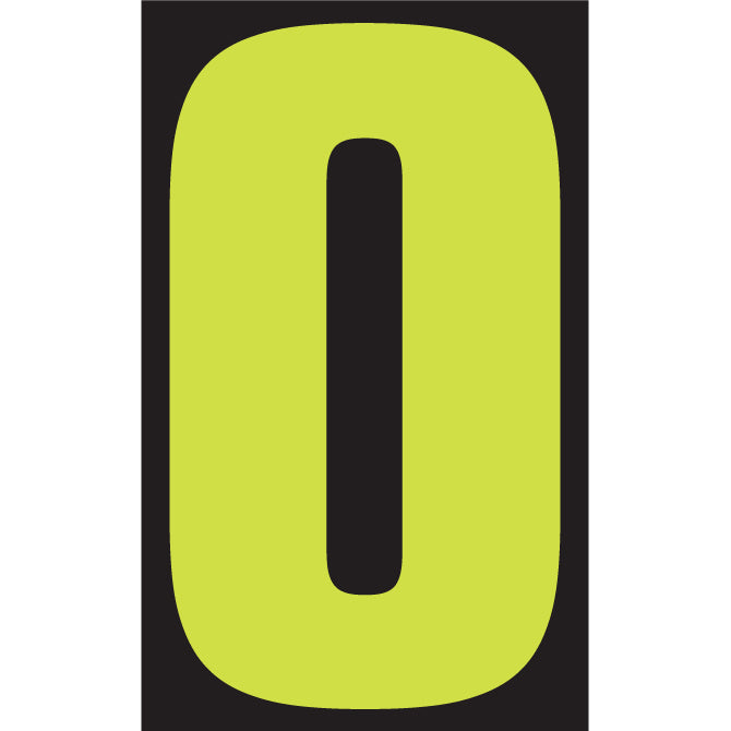"Window Sticker - 9 1/2"" Fluor. Green/Black - Qty. 12 - Independent Dealer Services"