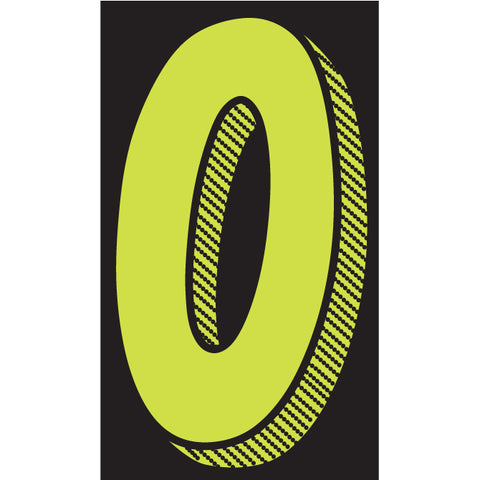 "Window Sticker - 11 1/2"" Fluor. Green/Black - Qty. 12 - Independent Dealer Services"