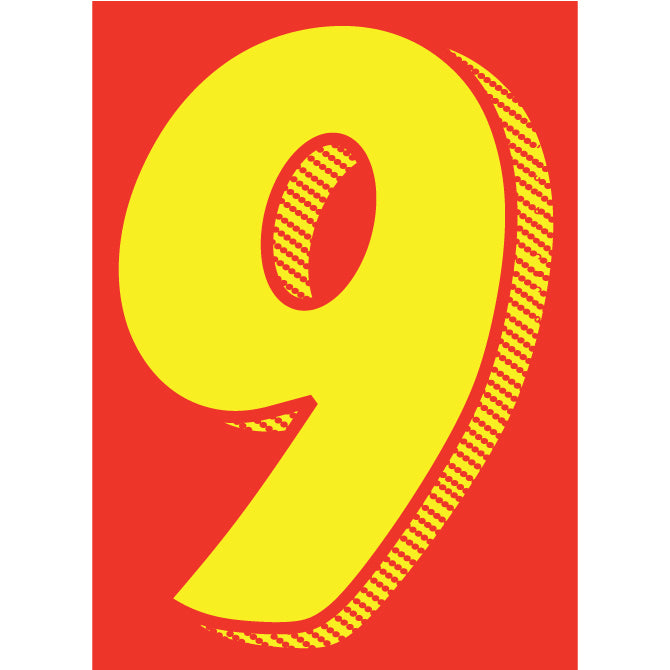 "Window Sticker - 7 1/2"" Yellow-Red - Qty. 12 - Independent Dealer Services"